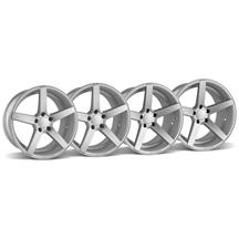 Mustang Rovos Durban Wheel Kit - 18x9/10.5 Satin Silver (94-04)
