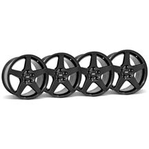 Mustang 03 Cobra Wheel Kit - 17x9 Black (94-04)