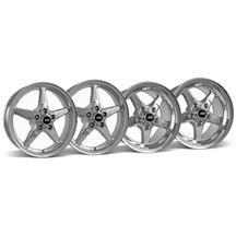 Mustang SVE Drag Wheel Kit 17X4.5/15x10 Chrome (05-14)