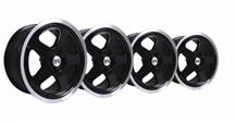 Mustang SC Wheel Kit - 17x8 Black W/ Machined Lip (79-93)