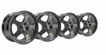 Mustang SC Wheel Kit - 17x9 Chrome (79-93)