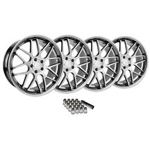 Mustang Downforce Wheel & Lug Nut Kit - 20x8.5/10 Platinum (2015)