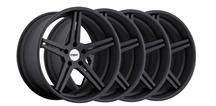 Mustang TSW Mirabeau Wheel Kit - 19x8.5, 9.5 Matte Black (05-14)