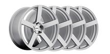 Mustang TSW Panorama Wheel Kit - 19x8.5, 9.5 Silver w/ Mirror Cut (05-14)