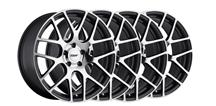 Mustang TSW Nurburgring Wheel Kit- 19x8.5, 9.5 Gun Metal w/ Mirror Cut (05-14)