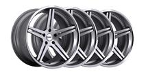Mustang TSW Mirabeau Wheel Kit - 19x8.5, 9.5 Silver w/ Mirror Face (05-14)