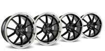 Mustang FR500 Wheel Kit - 20x8.5/10 Black w/ Mirror Lip (05-14)