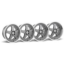 Mustang SC Wheel Kit - 18x8.5/10 Gunmetal w/ Mirror Lip (79-93)