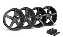 Mustang KMC 685 District Wheel & Lug Nut Kit - 20x8.5/10.5 Satin Black (2015)