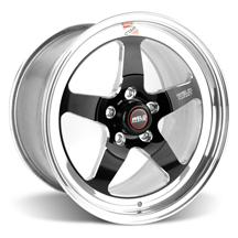 Mustang Weld RT-S S71 Drag Wheel - 17x10 Black w/ Polished Lip (05-16)