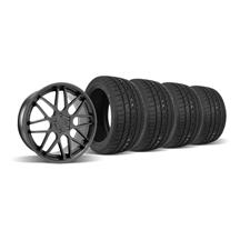 Mustang Downforce Wheel & Tire Kit  20x8.5 Matte Black (05-14)