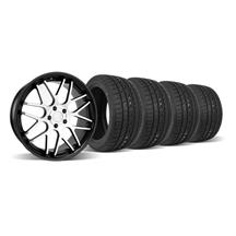 Mustang Downforce Wheel & Tire Kit  20x8.5 Black/Machine Face (05-14)