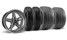 Mustang SVE Drag Wheel & Tire Kit 15X10/15X3.75 Dark Stainless  (05-10)
