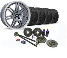 Mustang SVE 5-Lug Conversion Wheel & Tire Kit - 17x9 Anthracite (87-93)