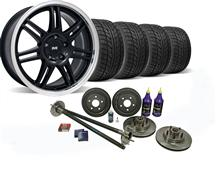 Mustang SVE 5-Lug Conversion Wheel & Tire Kit 17x9 Black (87-93)