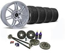 1987-93 Mustang Chrome SVE 5-Lug Conversion Wheel & Nitto Tire Kit - 17X9