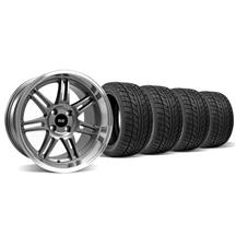 Mustang Anniversary Wheel & Tire Kit - 17x9 Anthracite  (79-93)