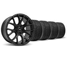 Mustang SVE Drift Wheel & Nitto Tire Kit - 18X9 Flat Black (94-04)
