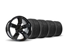"F-150 SVT Lightning Wheel & Tire Kit - 18x9.5"" Gloss Black (99-04)"