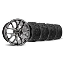 Mustang SVE Drift Wheel & Tire Kit - 19X9.5 Dark Stainless (05-14)