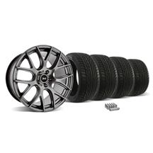 Mustang SVE Drift Wheel &Tire Kit - 18X9 Dark Stainless (05-14)