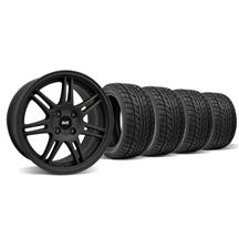 Mustang SVE Anniversary Wheel & Tire Kit - 17x9 Flat Black (79-93)