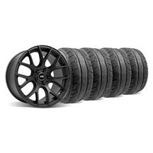 Mustang SVE Drift Wheel & Tire Kit - 18X9/10 Flat Black (94-04)