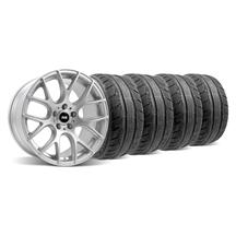 Mustang SVE Drift Wheel & Tire Kit - 18X9/10 Silver (94-04)