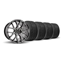 Mustang SVE Drift Wheel & Nitto Tire Kit - 18x9/18x10 Dark Stainless (05-14)