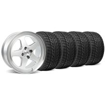 Mustang SC Staggered Wheel & Tire Kit - 17x8/10 Silver (79-93)