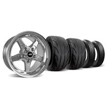Mustang SVE Drag Wheel & Tire Kit 15X10/17X4.5 Chrome  (94-04)
