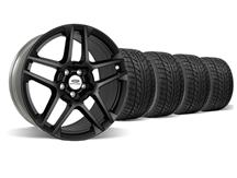 "Mustang Ford Racing SVT 5 Spoke Wheel & Tire Kit - 19x9.5"" Satin Black (05-14)"