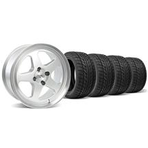 Mustang SC Wheel & Tire Kit - 17x8 Silver (79-93)
