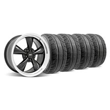 Mustang Bullitt Wheel & Tire Kit - 18x9 Black  (94-04)