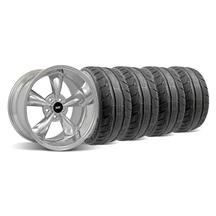 Mustang Staggered Bullitt Wheel & Tire Kit - 18x9/10 Chrome (94-04)