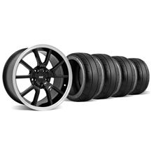 Mustang FR500 Wheel & Tire Kit - 18x9 Black (94-04)