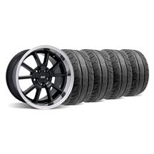 Mustang Deep Dish FR500 Wheel & Tire Kit - 18x9/10 Black (94-04)