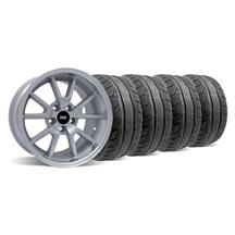 Mustang Deep Dish FR500 Wheel & Tire Kit - 18x9/10 Silver (94-04)