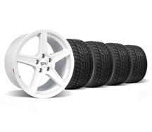 Mustang Saleen Wheel & Tire Kit - 18x9/10 White (94-04)