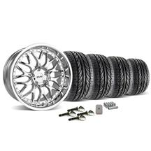 Mustang SVE Series 3 Wheel & Tire Kit - 19x9/10 Chrome (2015)