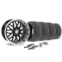 Mustang SVE Series 3 Wheel & Tire Kit - 19x9/10 Gloss Black (2015)