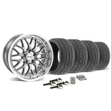 Mustang SVE Series 3 Wheel & Tire Kit - 19x9/10 Gun Metal (2015)