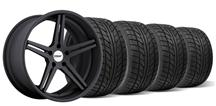 Mustang TSW Mirabeau Wheel & Tire Kit - 19x8.5, 9.5 Matte Black (05-14)