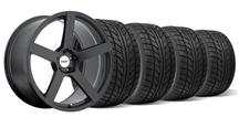 Mustang TSW Panorama Wheel & Tire Kit - 19x8.5/9.5 Matte Black (05-14)
