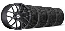 Mustang TSW Nurburgring Wheel & Tire Kit- 19x8.5/9.5 Matte Gun Metal (05-14)