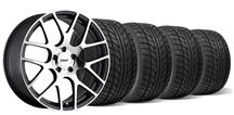 Mustang TSW Nurburgring Wheel & Tire Kit- 19x8.5/9.5 Gun Metal w/ Mirror Cut (05-14)