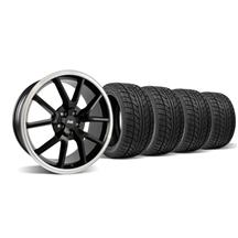Mustang Fr500 Wheel & Tire Kit - 18X9 Black (05-14)