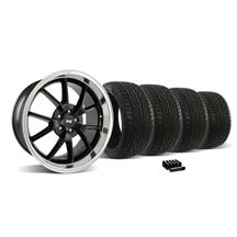 Mustang FR500 Wheel & Tire Kit - 20x8.5/10 Black w/ Mirror Lip (05-14)