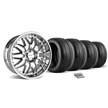 Mustang SVE Series 3 Wheel & Tire Kit - 20x8.5/10 Chrome (05-14)