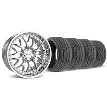 Mustang SVE Series 3 Wheel & Tire Kit - 19x9/10 Chrome (05-14)